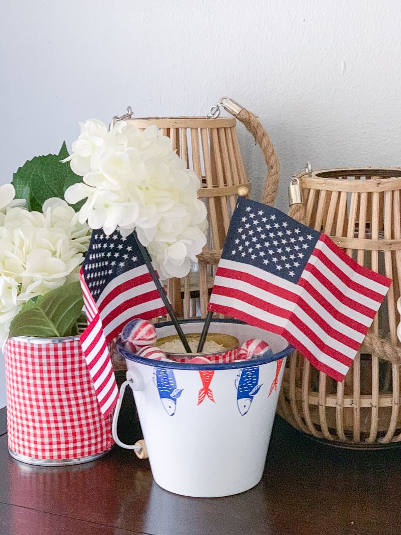 American Flags Nautical Bucket