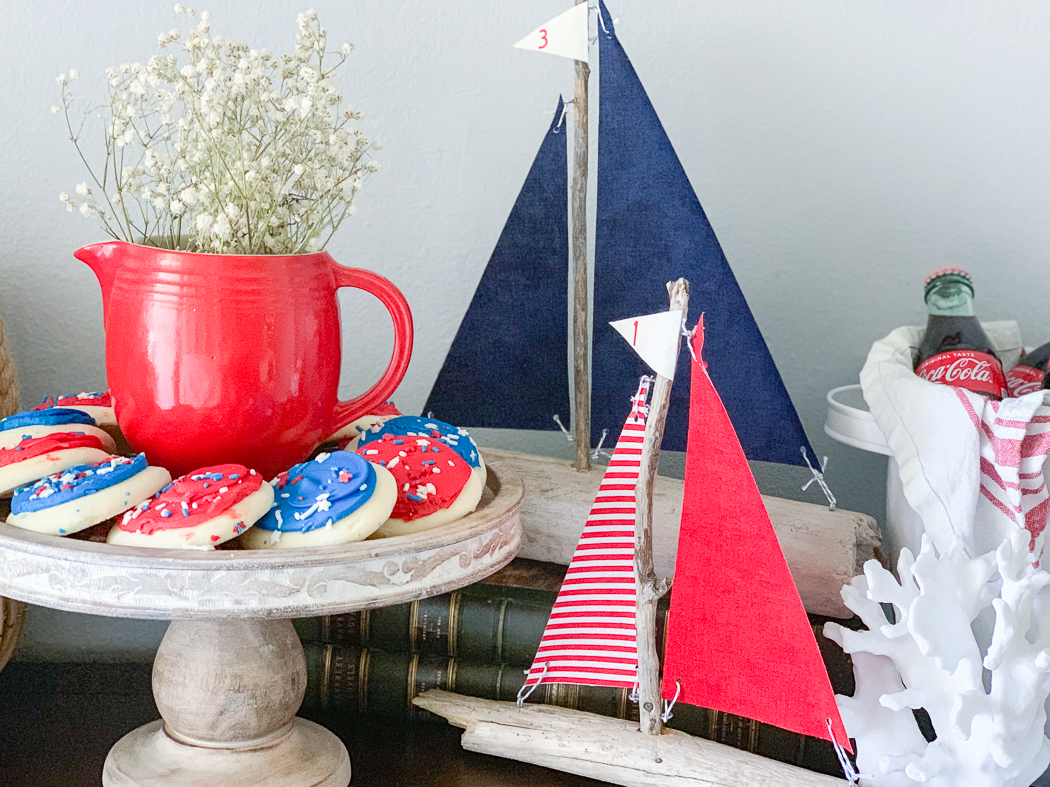 Driftwood Sailboats Cookies