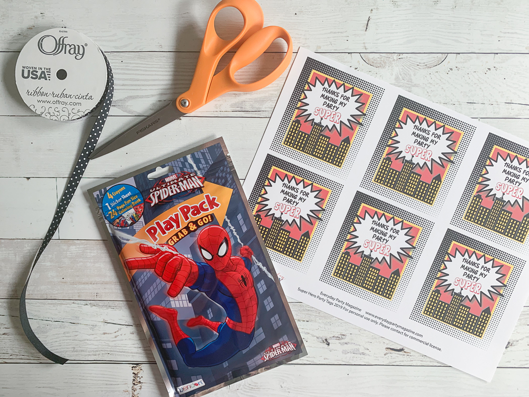 Spider Man Party Favors