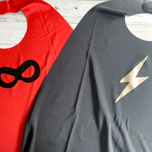 Red and Black Super Hero Capes