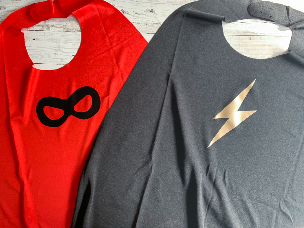 Red Super Hero Cape Black Super Hero Cape