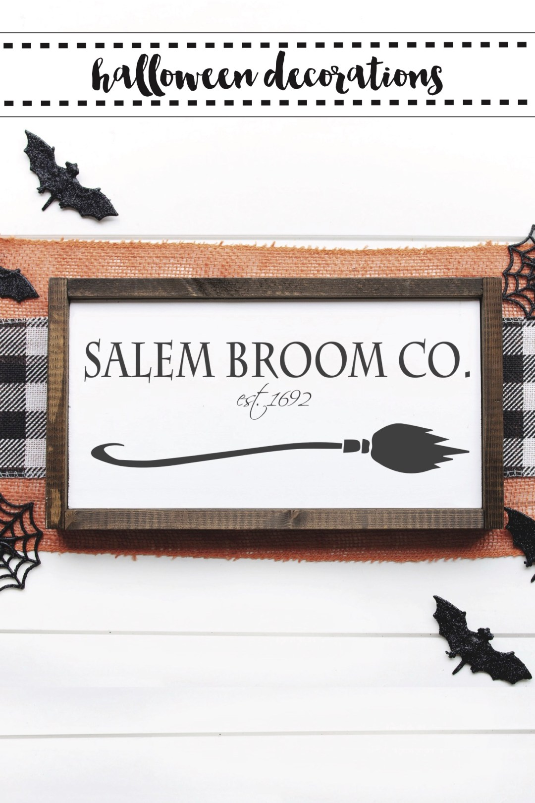 Salem Broom Co Halloween Sign
