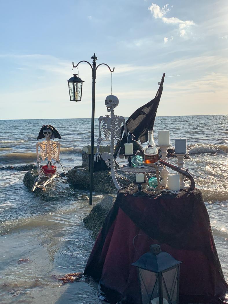 Beach Side Mermaid Skeleton Party