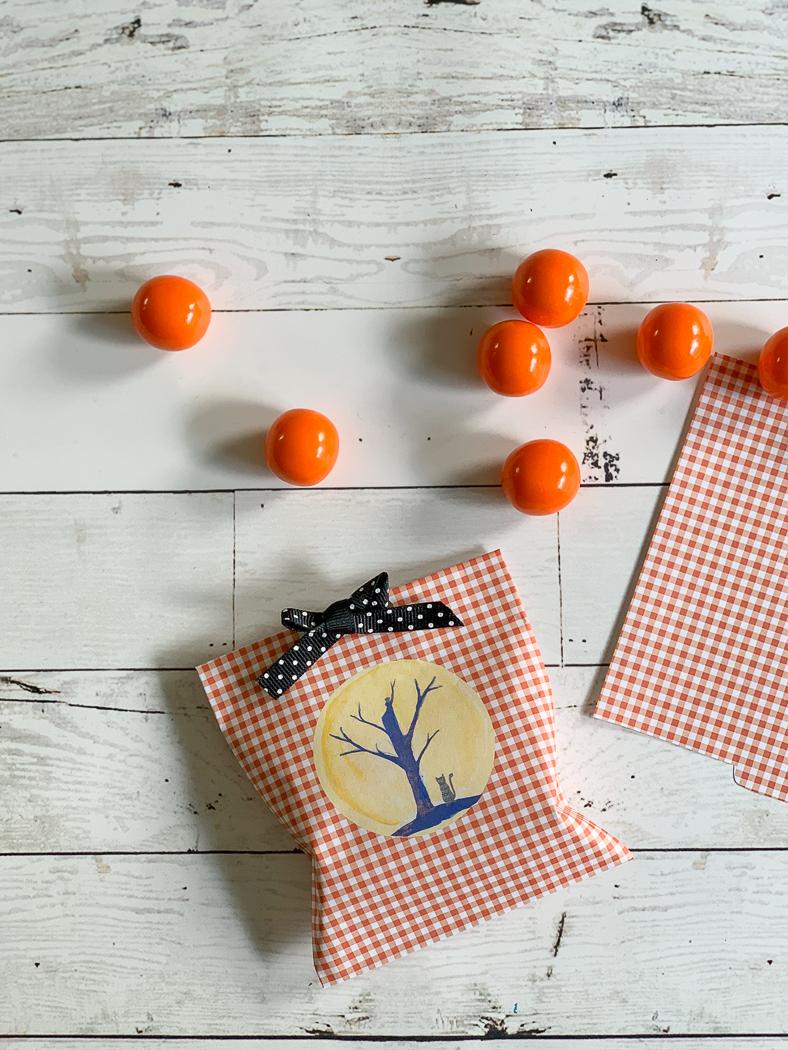 Halloween Favor Bag and Treats