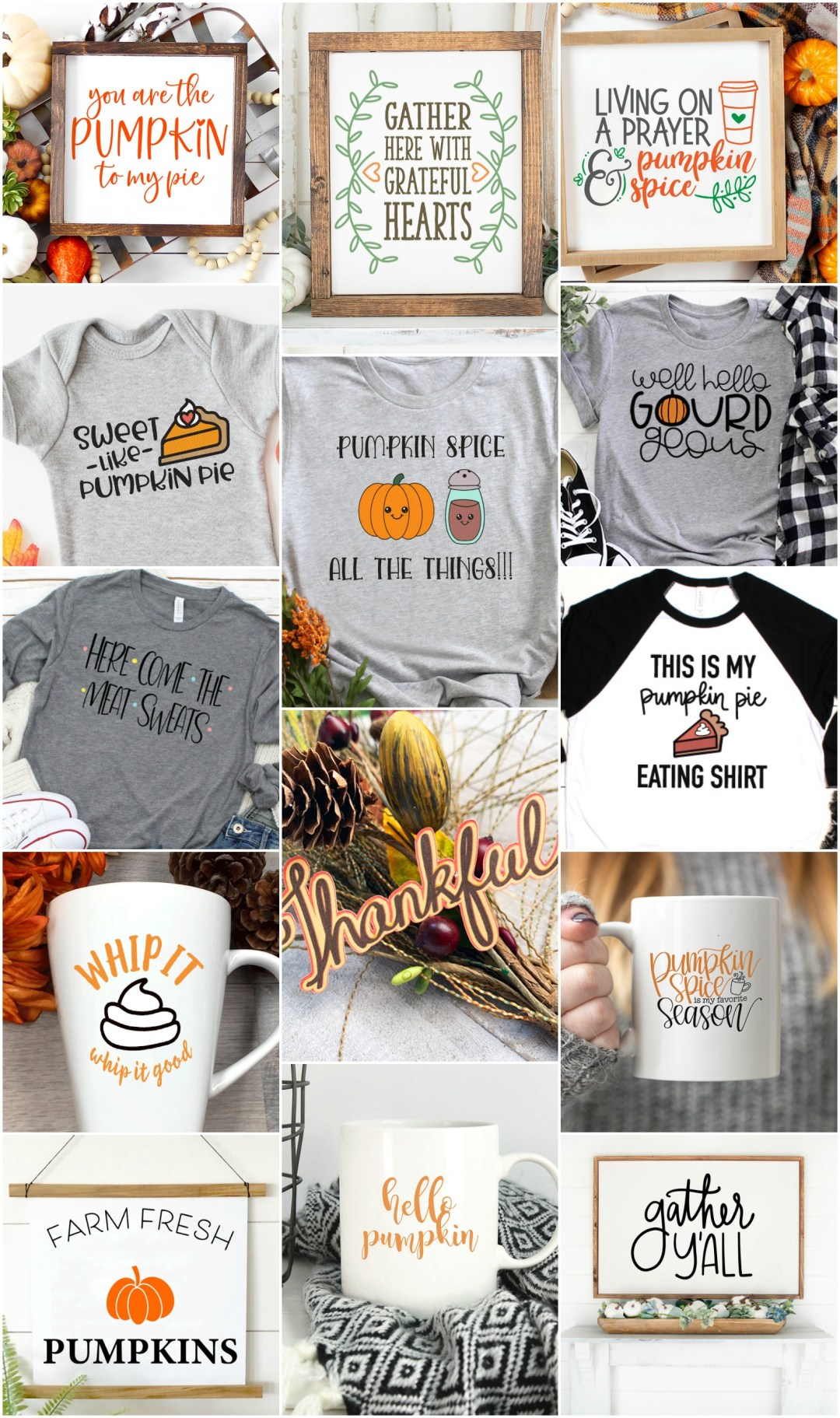 Thanksgiving Shirt Collage