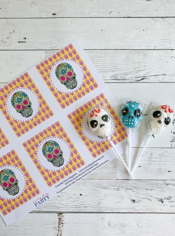 Sugar Skull Printables and Lollipops