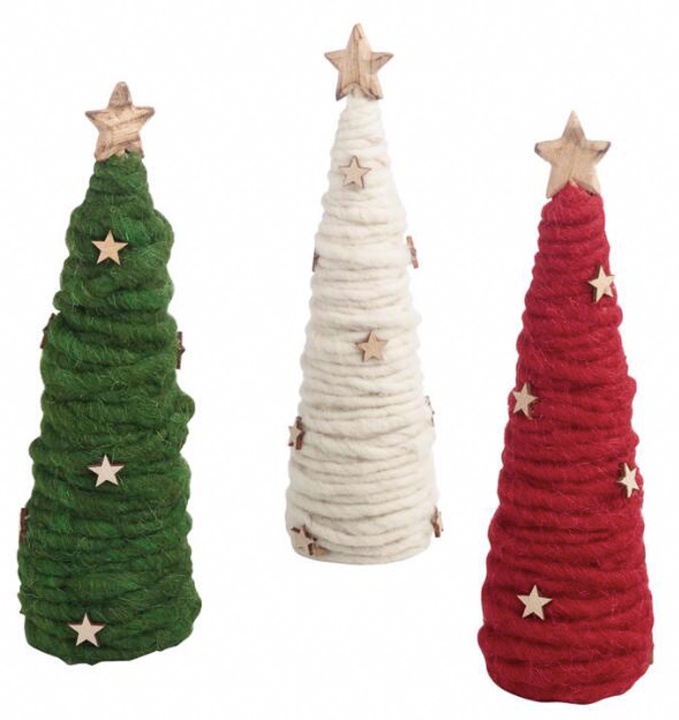 Wood and Wool Holiday Trees