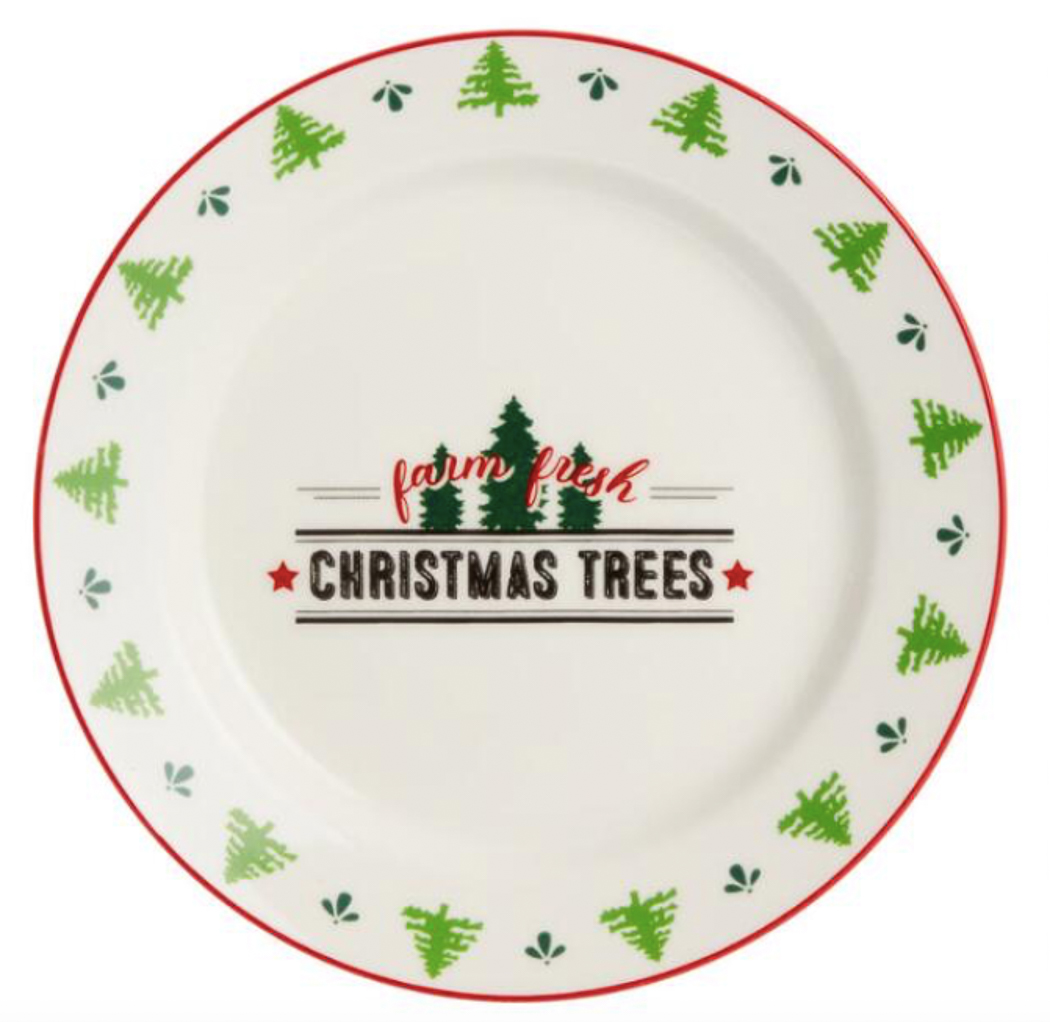 Vintage Holiday Salad Plates