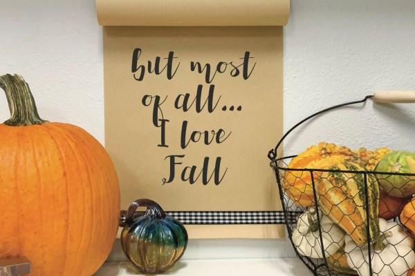 Kraft Paper Sign Pumpkins