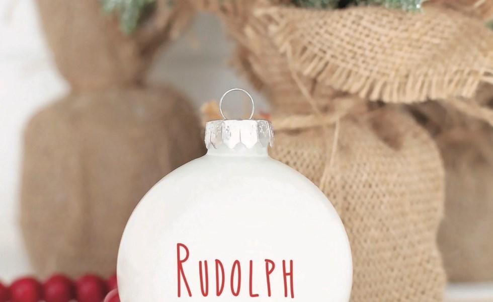 Rae Dunn Style Holiday Ornament