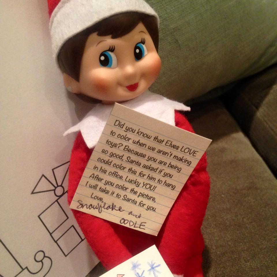 Elf on the Shelf Note