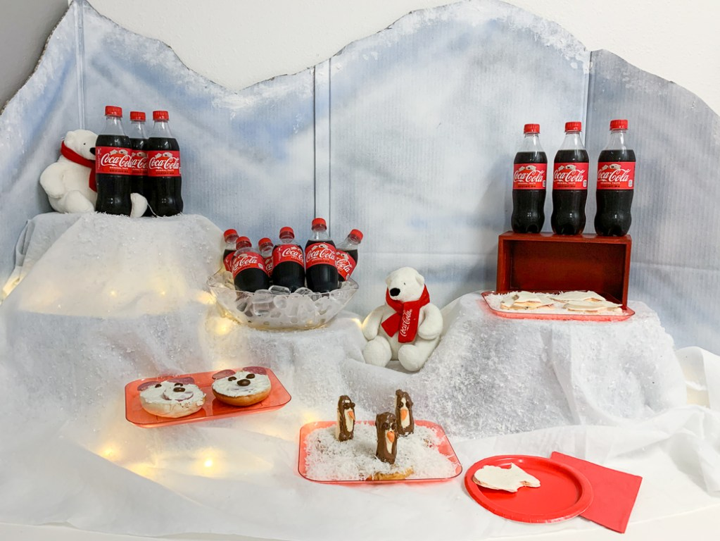 Coca-Cola Polar Bear Party Food Table