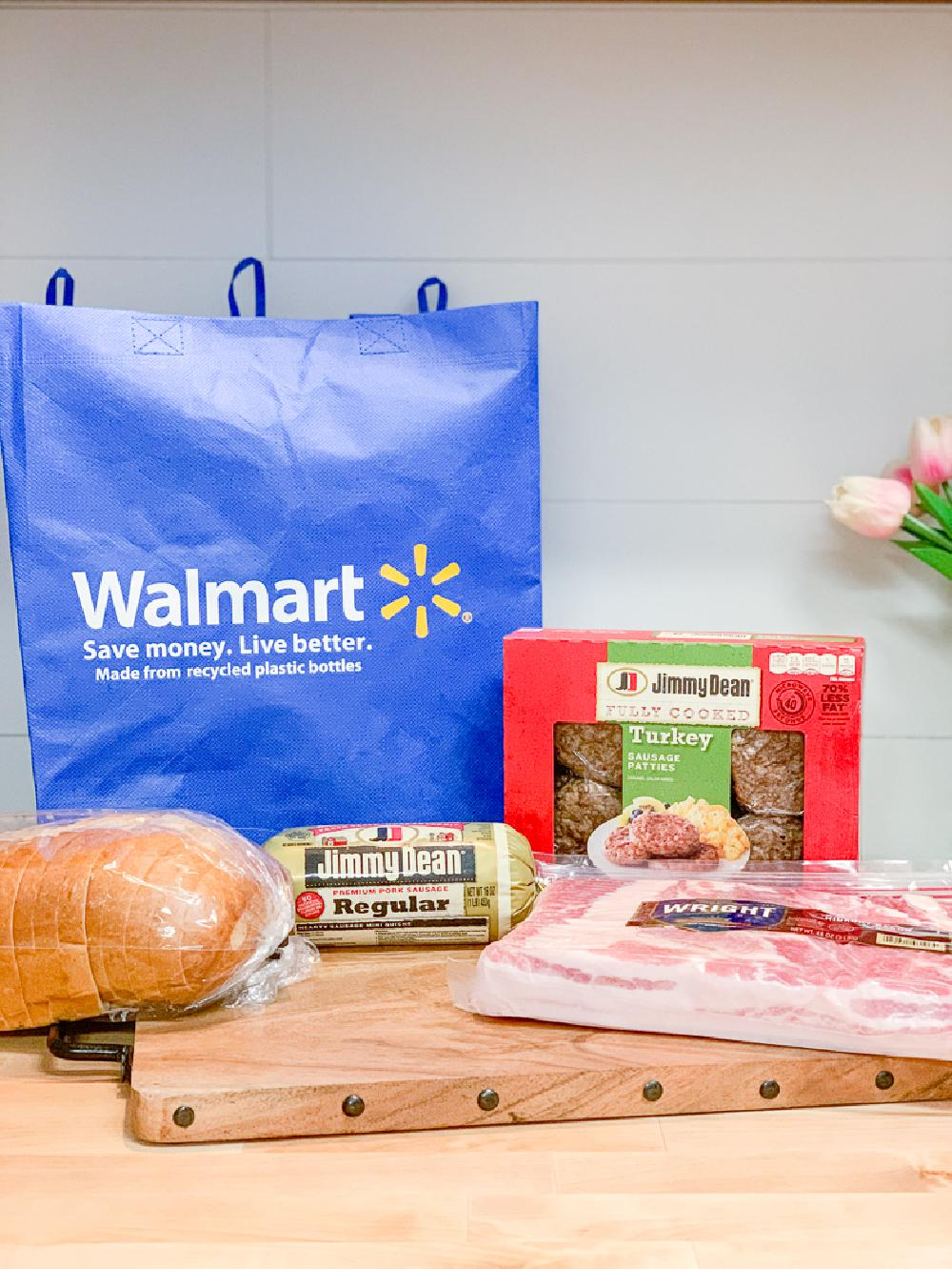 Walmart Shopping Bag Jimmy Dean Sausage Wright Bacon Recipe
