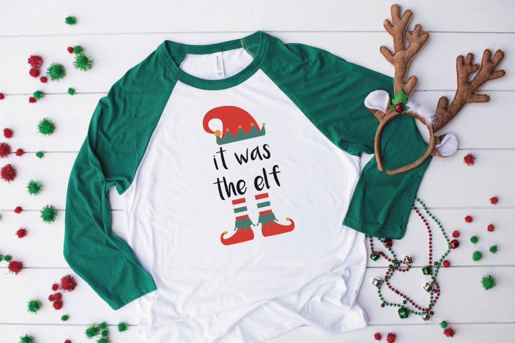Elf Shirt Reindeer Antler Headband