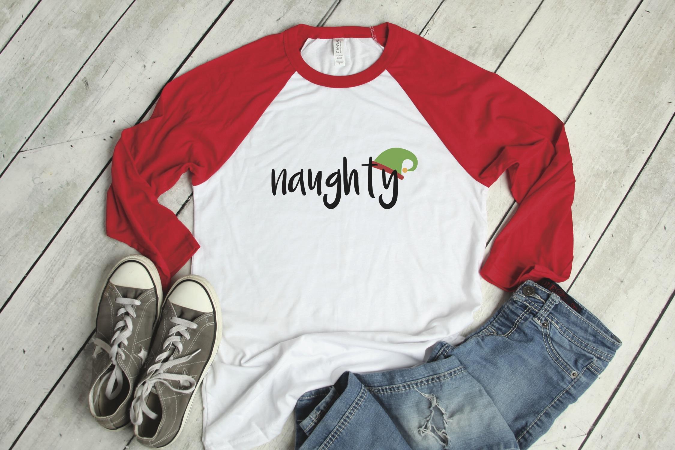 Naughty Elf Raglan Shirt