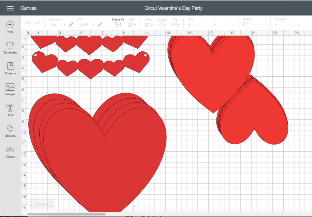 Design Space Screen Shot Hearts