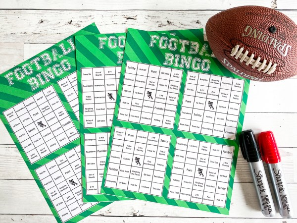 Football Bingo Printables