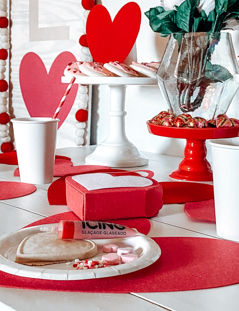 Kid's Valentine's Day Party Table