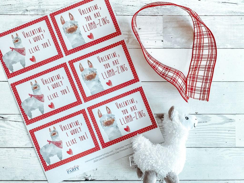 Llama Valentine's Day Cards Llama Plush