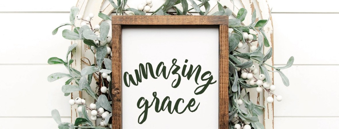 Amazing Grace Farmhouse Sign