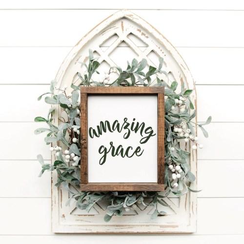 Amazing Grace Farmhouse Sign