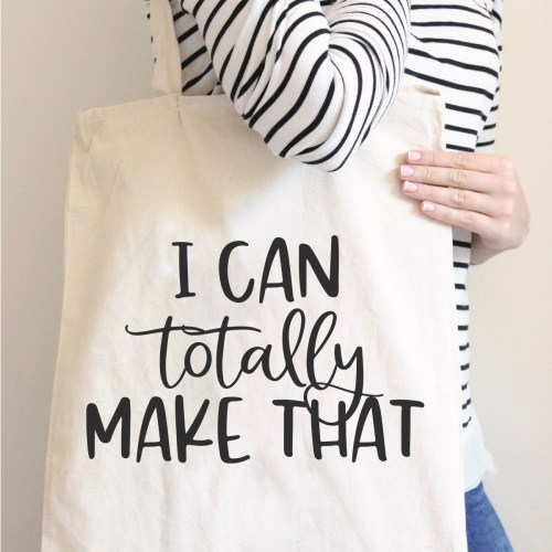 I can totally make that tote bag