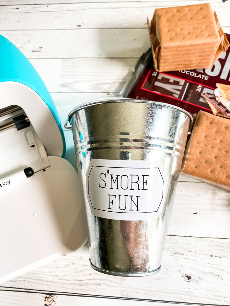S'More Fun Bucket Cricut Joy