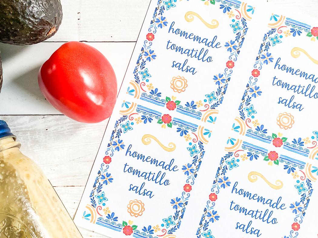 Tomatillo Salsa Labels
