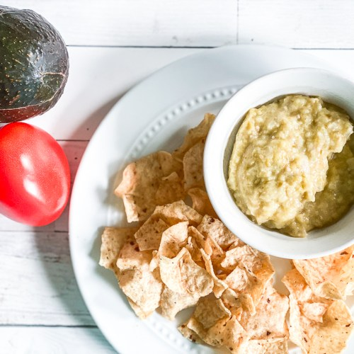 Green Salsa and Chips