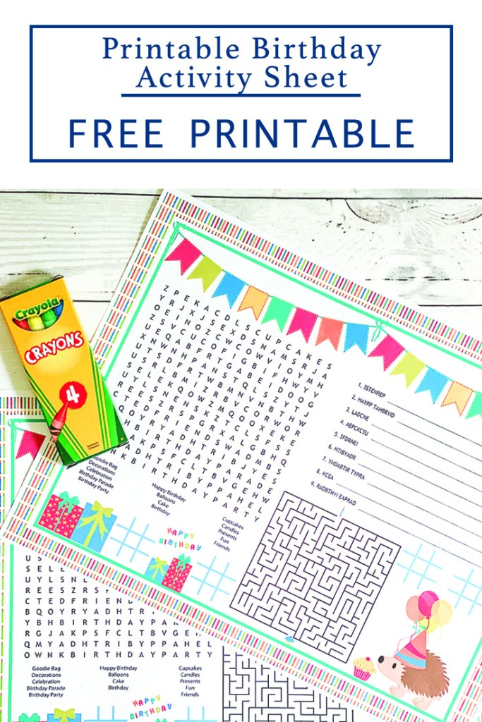 Printable Activity Sheet