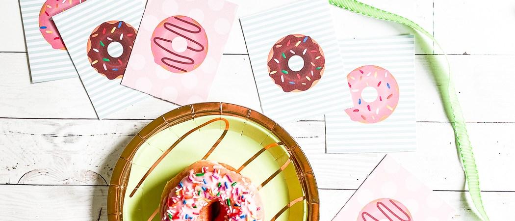Donut Banner Sprinkle Donuts