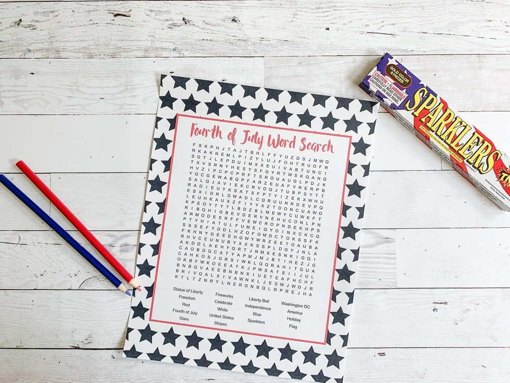 4th of July Activity Sheet