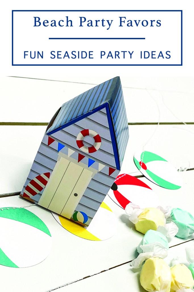 Beach Party Favor Box