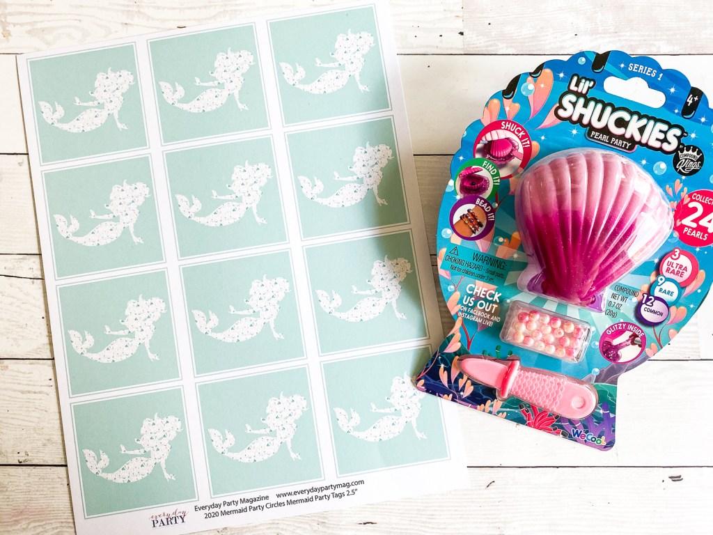 Mermaid Printable Sea Shell Toy