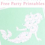 Mermaid Party Circle