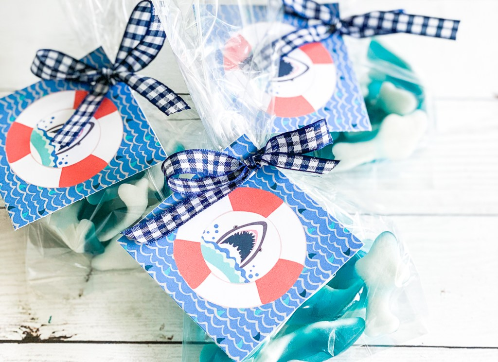 Printable Shark Party Tags