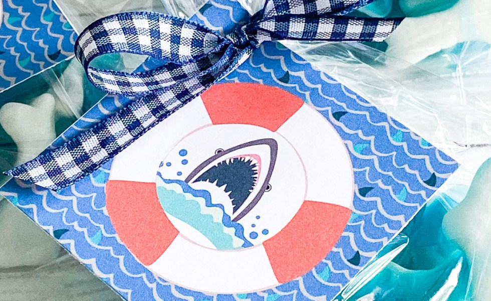 Shark Week Party Tags