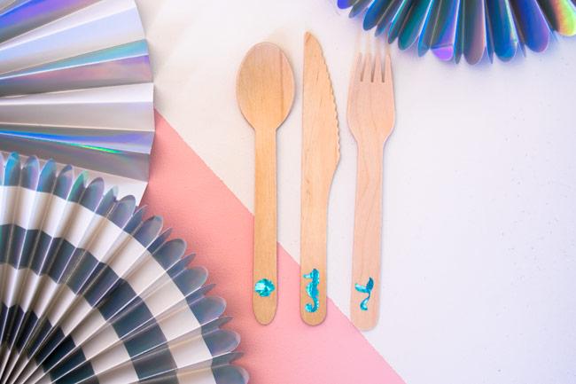Mermaid Party Cutlery