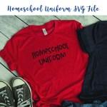 Homeschool Uniform SVG File