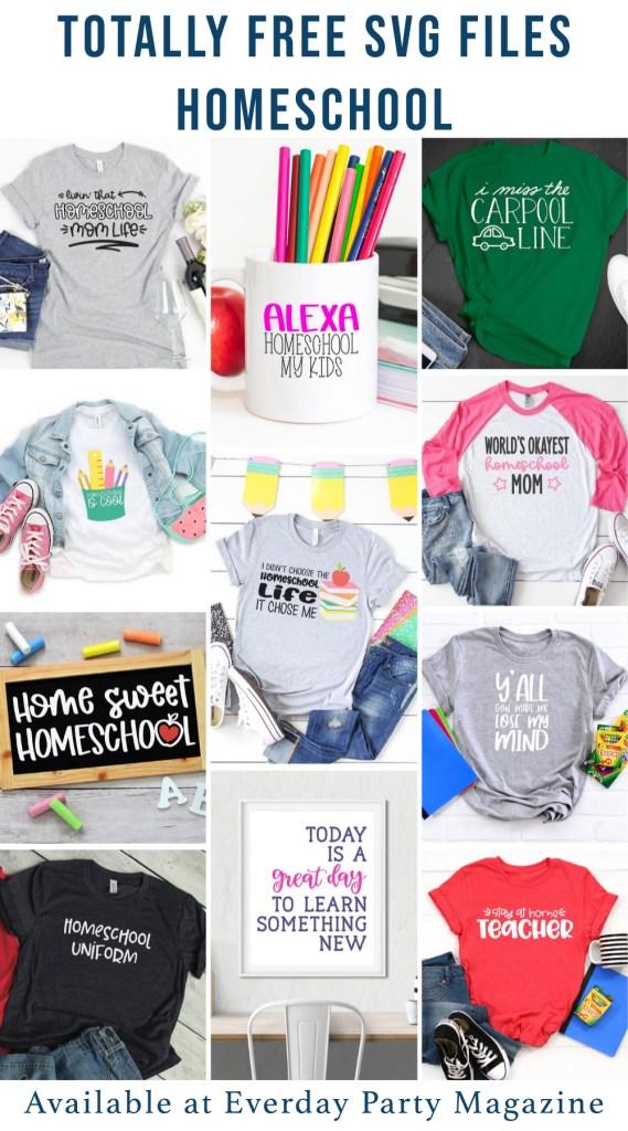 Homeschool SVG Collage