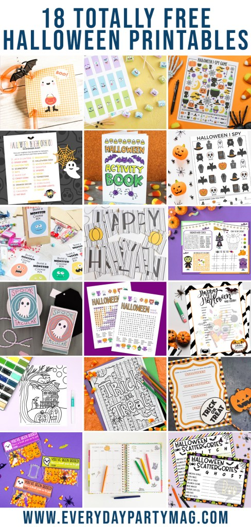 Halloween Printable Collage
