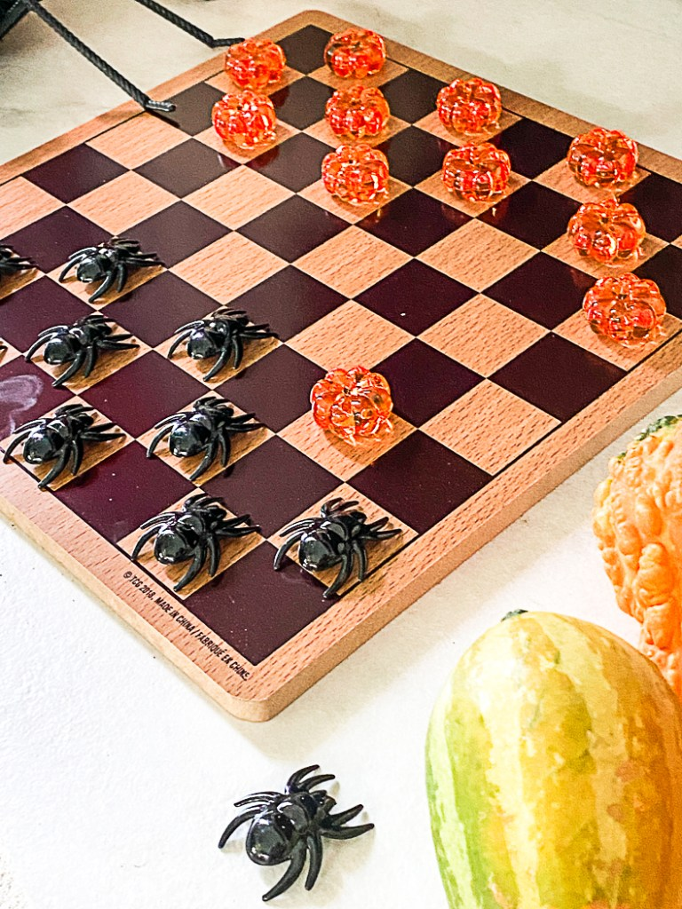Pumpkin and Spider Checkers