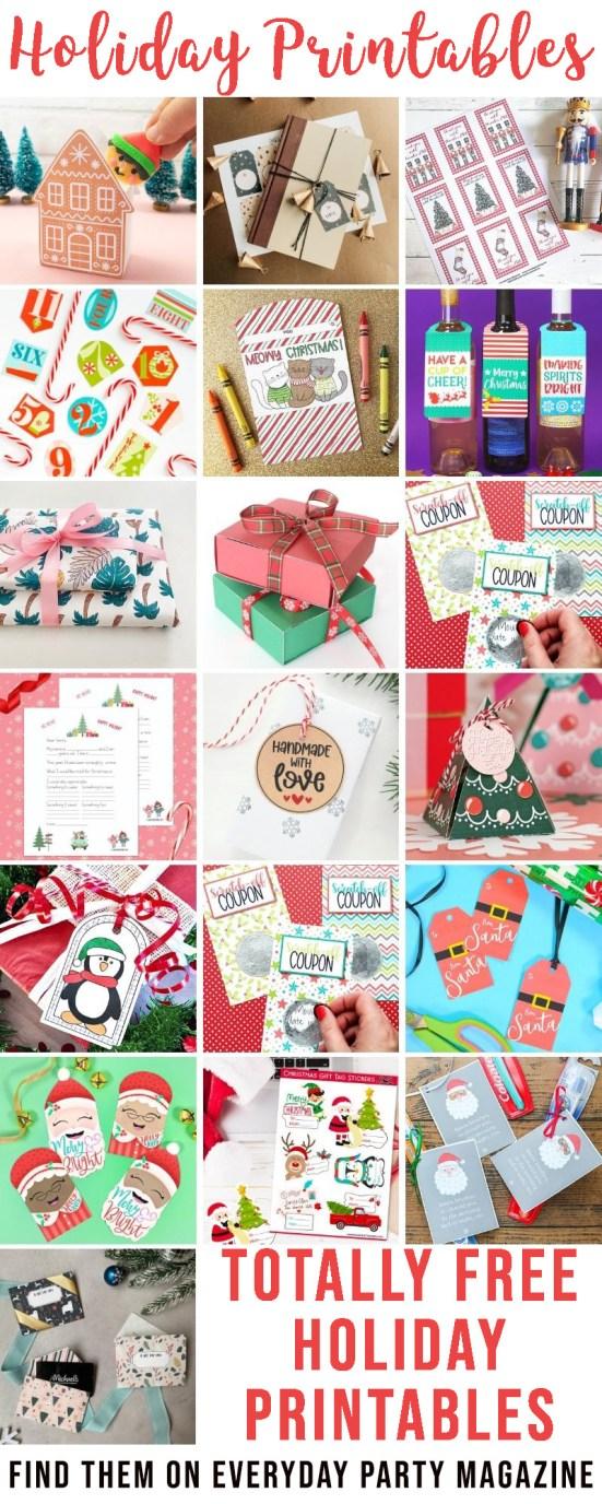 Holiday Printable Blog Hop Collage