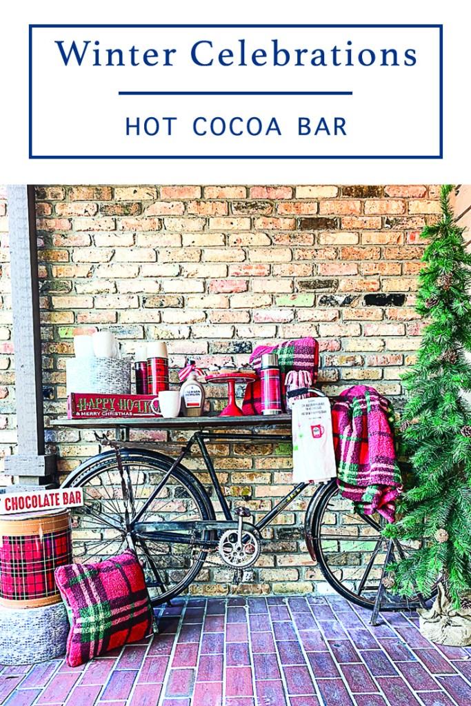 Winter Celebrations Vintage Bike Bar Cart