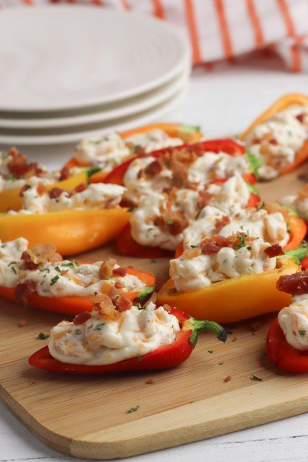 Stuffed Sweet Peppers Plates