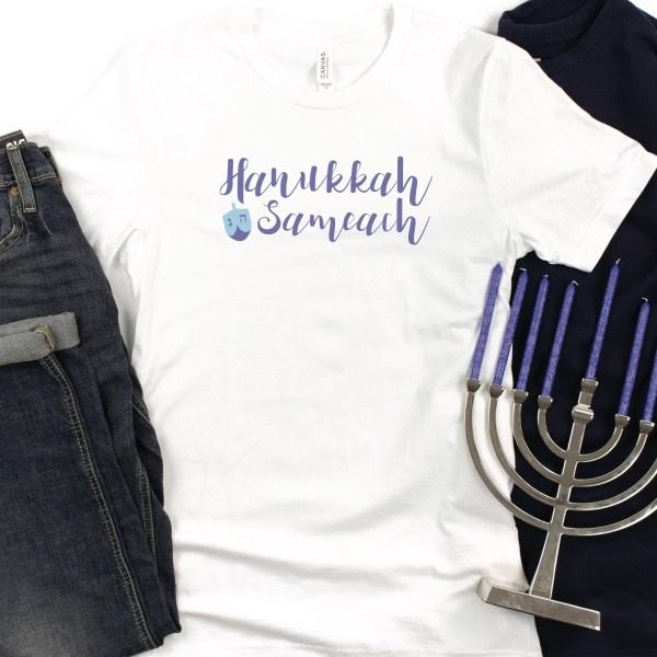Hanukkah Sameach Shirt Menorah