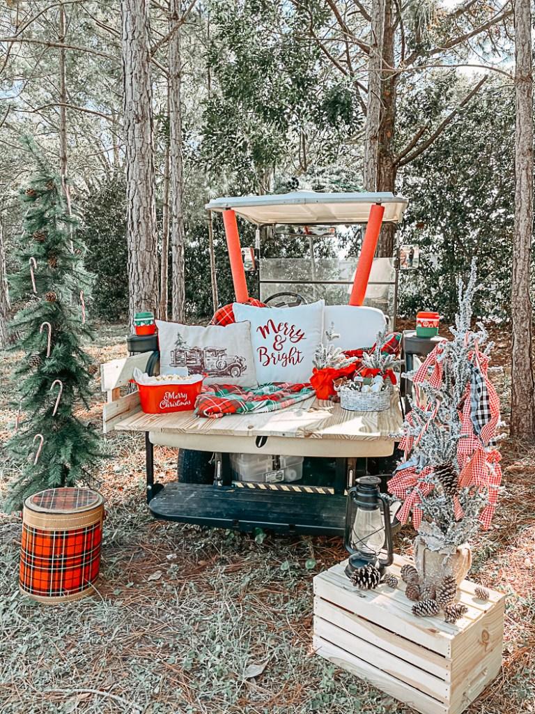 Classic Truck Holiday Photo Scene