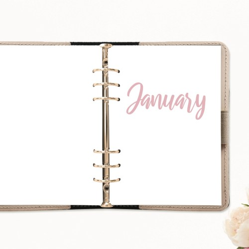 January Journal Page