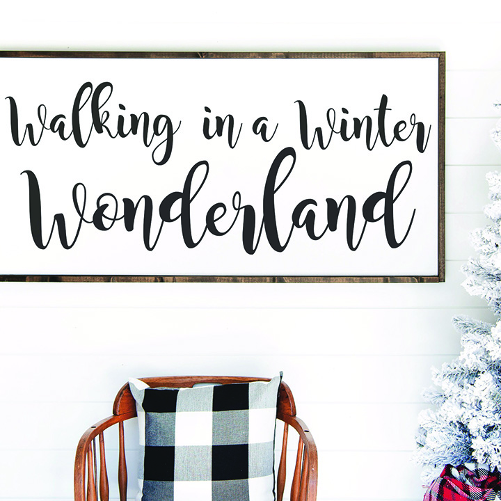 Winter Wonderland Sign Buffalo Plaid Blanket
