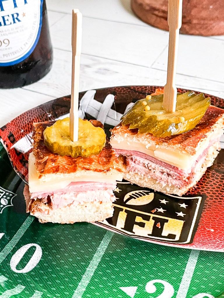 Cuban sandwich appetizers